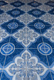 Chinese ornamental pattern perspective. Blur background Stock Photos