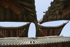 Chinese oude architecturale stijl stock afbeelding