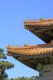 Chinese oude architectuur in Oostelijke Koninklijke Graven van Qing stock fotografie