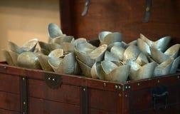 Chinese oude geld– zilveren baren Royalty-vrije Stock Foto's