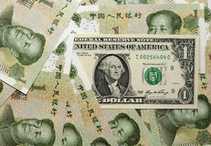 Chinese Overheersing - uSD-Yuan II. Royalty-vrije Stock Afbeelding