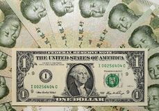 Chinese Overheersing - uSD-Yuan III. Stock Afbeelding