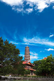 Chinese pagoda. Of  Xichan temple in Fuzhou,China. Xichan temple dating from thousand years ago is very famous place for  buddhism in southeast of China Royalty Free Stock Photography