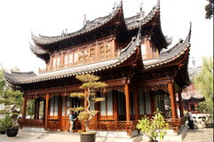 Chinese Pagoda. Pagoda in the Shanghai Yuyuan garden stock image