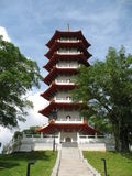 Chinese Pagoda. A Chinese Pagoda found in the Singapore Chinese Garden Royalty Free Stock Images