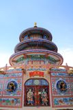 Chinese pagoda. Colorful chinese pagoda in temple Royalty Free Stock Photo