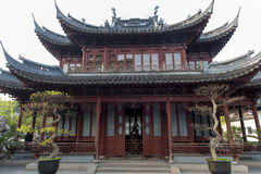 Chinese Pagoda. In garden in Shanghai stock photo