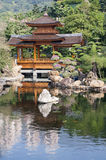 Chinese pagoda. In a peaceful park, Hong Kong Stock Photo