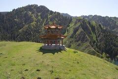 Chinese Pagoda. On hill close to Heavenly Lake, Urumqi, Xinjiang, China Stock Photography