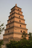 Chinese pagoda. Ancient Chinese pagoda in the city of Xian Stock Photo
