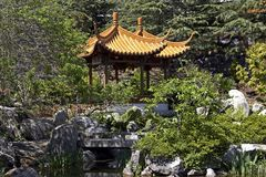 Chinese Pagoda. In a garden Royalty Free Stock Photography