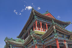 Chinese Pagoda. In the Summer Palace outside Beijing, China Royalty Free Stock Images