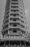 Chinese pagoda in black and white tone Royalty Free Stock Photos