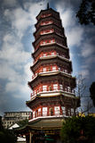 Chinese Pagoda. Chinese Buddhist Temple Pagoda Tower Royalty Free Stock Photography