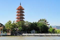 Chinese pagoda at Chao Phraya river, Bangkok Stock Photography