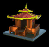 Chinese pagoda - 3d art Stock Photography
