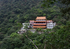 A Chinese pagoda in forest in Hualien, Taiwan Stock Photos