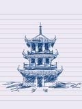Chinese pagoda Stock Image