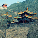 Chinese pagoda on hills near Great Wall, China Stock Images