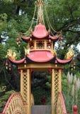 Chinese Pagoda. Inside the Villa Pallavicini in Genoa Pegli Royalty Free Stock Photography
