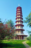 Chinese pagoda in Kew Gardens Royalty Free Stock Image