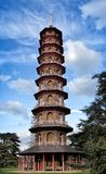 The Chinese pagoda in Kew Gardens in London Stock Images