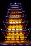 Chinese pagoda light show Royalty Free Stock Photos