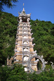 Chinese pagoda or stupa in levels for relics Royalty Free Stock Images