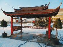 Chinese pagoda-style gazebo in Royalty Free Stock Images