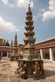 Chinese pagoda style in Thai temple . Royalty Free Stock Photography