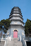 Chinese pagoda in  temple Royalty Free Stock Photos