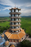 Chinese pagoda in temple . Chinese pagoda in temple at Middle of Thailand Royalty Free Stock Images