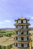 Chinese pagoda in temple Royalty Free Stock Photography