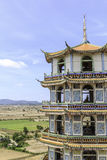 Chinese pagoda in temple Stock Image