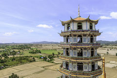 Chinese pagoda in temple Royalty Free Stock Image