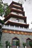 Chinese Pagoda temple at Taiwan. A high chinese Pagoda nearby a temple at Taiwan Stock Photos
