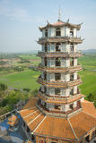Chinese Pagoda in Thailand. China shaped pagoda in Thailand outstanding middle infield Stock Images