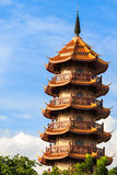 Chinese Pagoda in Thailand. Multicultural Country in Asia Royalty Free Stock Image