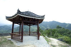Chinese pagoda on top of mountain Stock Images