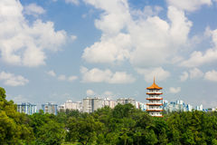 Chinese pagoda tower Royalty Free Stock Photography