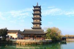 Chinese pagoda in Wuzhen town. Zhejiang province, China Stock Photography