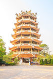 Chinese pagodas tower. Royalty Free Stock Photo