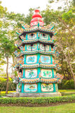 Chinese pagodas tower. Royalty Free Stock Image