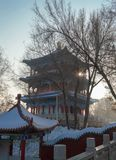 Chinese pagode in Urumqi-park Royalty-vrije Stock Afbeelding