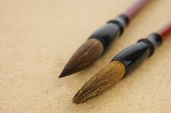 Chinese paintbrushes Stock Photos