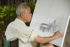 Chinese painter Stock Images