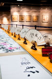 Chinese painting and calligraphy exhibition Stock Photos