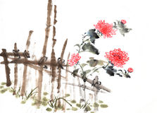 Chinese painting of chrysanthemum Royalty Free Stock Image