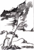 Chinese painting. Draw from shitao,on paper Stock Images