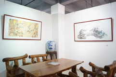 Chinese Painting Exhibition Royalty Free Stock Photo